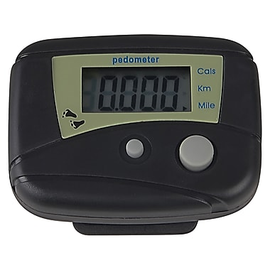 Insten® Mini Digital LCD Pedometer, Black