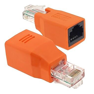 Insten® RJ45 Male/Female Crossover Adapter, Orange