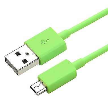 Insten® 3' Micro USB 2.0 A/B 2- in-1 Cable, Green