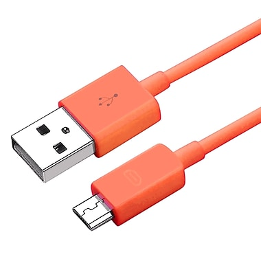 Insten® 3' Micro USB 2.0 A/B 2- in-1 Cable, Orange