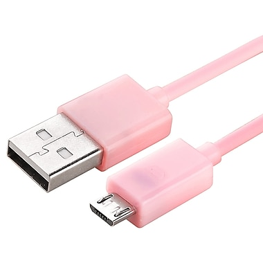 Insten® 3' Micro USB 2.0 A/B 2- in-1 Cable, Pink
