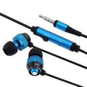 Insten® 3.5 mm Stereo Headset With On-Off and Microphone, Blue/Black