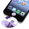 Insten® Home Button Sticker For Apple iPhone/iPad/iPod Touch, Purple Diamond Version 2