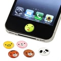 Insten® 6 Piece Home Button Sticker For Apple iPhone/iPad/iPod Touch, Animal