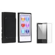 Insten 954428 2 Piece Case Bundle for Apple iPod Nano 7th Gen, Black