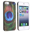 Insten® Hard Plastic Snap-in Case For Apple iPhone 5/5S, Peacock Feathers