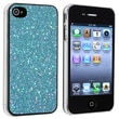 Insten® Hard Plastic Snap-in Case For Apple iPhone 4/4S, Blue Bling