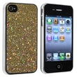 Insten® Hard Plastic Snap-in Case For Apple iPhone 4/4S, Gold Bling