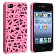 Insten® Rubber Coated Snap-in Case For Apple iPhone 4/4S, Pink Bird Nest