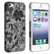 Insten® Rubber Coated Snap-in Case For Apple iPhone 5/5S, Flower Rear Style 49