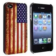 Insten® Hard Plastic Snap-in Case For Apple iPhone 4/4S, US Flag