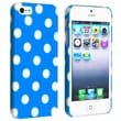 Insten® Hard Plastic Snap-in Case For Apple iPhone 5/5S, Sky Blue With White Polka Dot