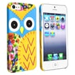 Insten® Hard Plastic Snap-in Case For Apple iPhone 5/5S, Colorful Owl