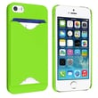 Insten® Hard Plastic Snap-in Case With Card Holder For Apple iPhone 5/5S, Green