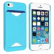Insten® Hard Plastic Snap-in Case With Card Holder For Apple iPhone 5, Sky Blue
