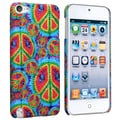 Insten® Rubber Coated Snap-in Case For iPod Touch 5th Gen, Peace