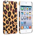 Insten® Rubber Coated Snap-in Case For iPod Touch 5th Gen, Brown Leopard