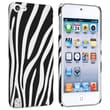 Insten® Rubber Coated Snap-in Case For iPod Touch 5th Gen, Black/White Zebra Rear