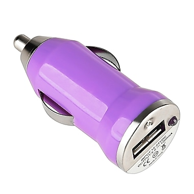 Insten® USB Mini Universal Car Charger Adapter, Purple