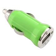 Insten® USB Mini Universal Car Charger Adapter, Green