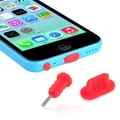 Insten® Headset Dust Cap With SIM Card Eject Pin For Apple iPhone 5/5S/5C, Red