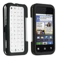 Insten® Snap-in Rubber Coated Case For Motorola MB300/Backflip, Black