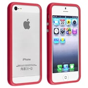 Insten® TPU Rubber Bumper Case With Aluminum Button For Apple iPhone 5/5S, Red
