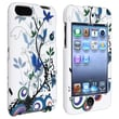 Insten® Rubber Coated Case For iPod Touch 2nd/3rd Gen, White Spring Flower