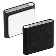 Insten DAPPSHUFSC08 Silicone Skin Case for Apple iPod Shuffle 4th Gen, Black