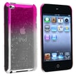 Insten® Hard Plastic Snap-in Case For iPod Touch 4th Gen, Clear Hot Pink Water Drop
