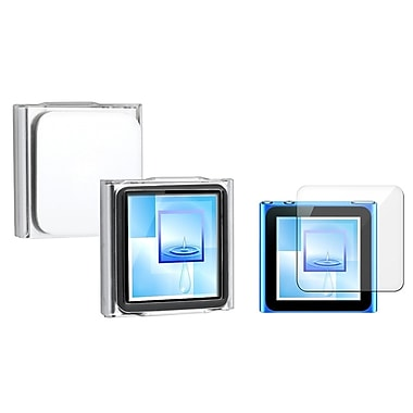 Insten 323274 2 Piece Case Bundle for Apple iPod Nano 6th Gen, Clear