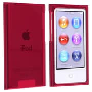 Insten® Hard Plastic Snap-in Slim Case For iPod nano 7th Gen, Clear Red