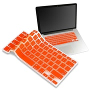 "Insten® Keyboard Skin Shield For 13"" Apple MacBook Pro White/Pro Series, Orange"