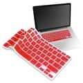 Insten® Keyboard Skin Shield For 13in. Apple MacBook Pro White/Pro Series, Red