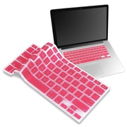 "Insten® Keyboard Skin Shield For 13"" Apple MacBook Pro White/Pro Series, Light Pink"