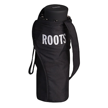 Roots Mini Manual Telescopic Umbrella, Black
