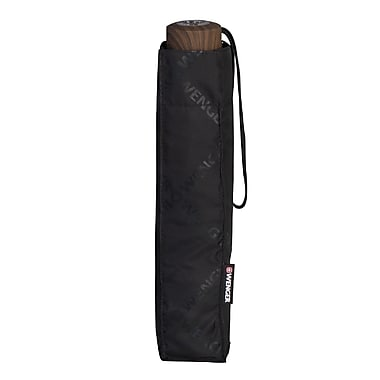Wenger® Manual Telescopic Umbrella, Black