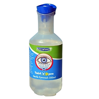 Astroplast Eyewash Station Refill, 500mL, Twist & Open
