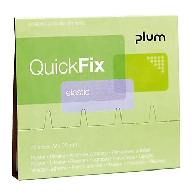 Plum Fabric Adhesive Bandage Wall Dispenser Refill, 45 Bandages/Pack