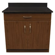 "Alera® Plus™ 35"" x 36"" Hospitality Base Cabinet With 2 Doors, Cherry/Granite Nebula"