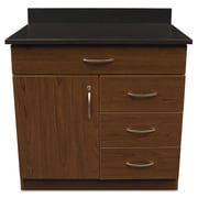 Alera® Plus™ 35 x 36 Hospitality Base Cabinet With 4 Drawers, Cherry/Granite Nebula