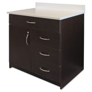 "Alera® Plus™ 35"" x 36"" Hospitality Base Cabinet With 4 Drawers, Espresso/White"