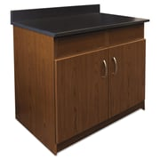Alera® Plus™ 35 x 36 Hospitality Base Cabinet With 2 Flipper Doors, Cherry/Granite Nebula