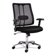 Alera® EM Series Mesh Fabric Lumbar Chair, Black