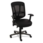 Alera® EON Series Multifunction Leather/Mesh Chair, Black