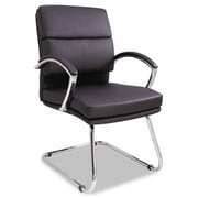 Alera® Neratoli Series Slim Profile Soft Leather Guest Chair, Black