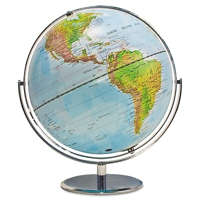 """""Advantus 12"""""""" Physical/Political World Globe, Blue Oceans"""""" AVT30503"