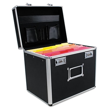 Advantus® Plastic Locking Letter Size File Storage Security Box, Black