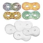"""Chenille Kraft® Creativity Street® Embossed Paper Masks, 8"""" x 3 1/2"""", White"""