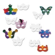 "Chenille Kraft 4651 White Masks, 4"" x 9"", 24/Pack"